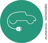 electric car logo formed with... | Shutterstock .eps vector #1635602881