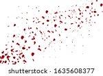falling red rose petals...   Shutterstock .eps vector #1635608377