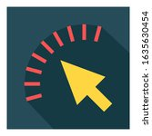 arrow pointer flat icon vector  ...