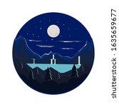 vector illustration night... | Shutterstock .eps vector #1635659677