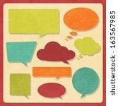 set of speech bubbles in ... | Shutterstock .eps vector #163567985