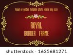 gold border frame with corner... | Shutterstock .eps vector #1635681271