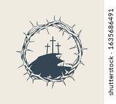 vector banner  icon or emblem... | Shutterstock .eps vector #1635686491