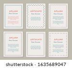 decorative frames and borders.... | Shutterstock .eps vector #1635689047