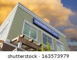 immediate care sign above... | Shutterstock . vector #163573979