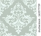 Wallpaper in the style of Baroque. A seamless vector background.