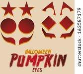 vector halloween set of cartoon ... | Shutterstock .eps vector #163587179