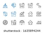 Shelter Icons Set. Collection...