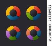 circular chart template set.... | Shutterstock .eps vector #163589531