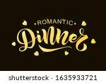 hand sketched romantic dinner... | Shutterstock .eps vector #1635933721