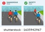 dangerous and safety bicycle... | Shutterstock .eps vector #1635942967