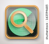 radar icon map marker for web...