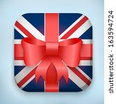 gift icon flag of great britain ...