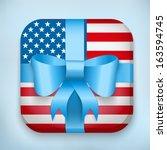 gift icon flag of united states ...