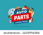 different car parts. various... | Shutterstock .eps vector #1635956584