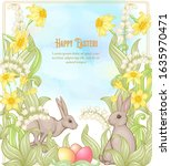 Happy Easter. Template Postcard ...