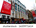 Small photo of New York , New York/USA-Dec 15 2019: Macy's Store Located on Herald Square in Manhattan.New York City. Is the largest department stores in the United States.