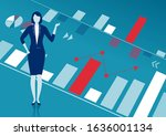 the manager pointing at... | Shutterstock .eps vector #1636001134