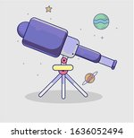 hubble space telescope retro...   Shutterstock .eps vector #1636052494