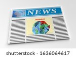 newspaper with news about 2019... | Shutterstock . vector #1636064617
