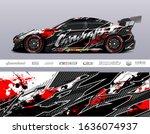 car wrap decal graphic vector... | Shutterstock .eps vector #1636074937