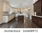 kitchen in new construction... | Shutterstock . vector #163608971