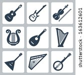 vector musical instruments ... | Shutterstock .eps vector #163612601