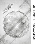 gray globe design. vector... | Shutterstock .eps vector #163614185