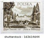 poland   circa 1967  a stamp... | Shutterstock . vector #163614644