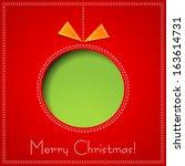 christmas card | Shutterstock .eps vector #163614731