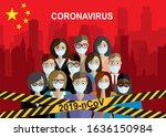 caution warning strip.... | Shutterstock .eps vector #1636150984