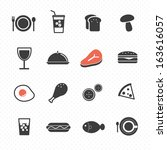 food icon vector | Shutterstock .eps vector #163616057