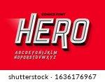 comics super hero style font ... | Shutterstock .eps vector #1636176967