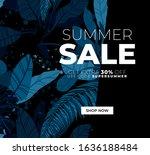 dark vector summer design with... | Shutterstock .eps vector #1636188484