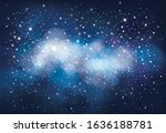 vector night starry sky... | Shutterstock .eps vector #1636188781