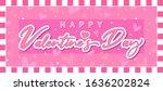 happy valentine s day banner...   Shutterstock .eps vector #1636202824
