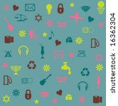 icons pattern | Shutterstock .eps vector #16362304