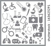 grey medicals icon on white... | Shutterstock .eps vector #163625291