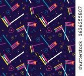 purim seamless pattern  jewish... | Shutterstock .eps vector #1636255807