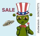 Emoticon With Uncle Sam Alien...