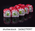 sushi rolls with fresh fish and ...   Shutterstock . vector #1636279597