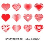 collection of vector hearts | Shutterstock .eps vector #16363000