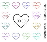 heart shaped clock multi color...