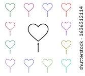 heart shaped balloon multi...
