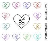 cherry heart multi color style...