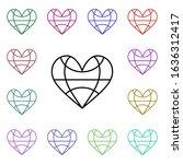 heart world grid multi color...