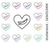 banana lover heart multi color...