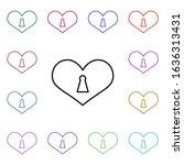 heart lock with key hole multi...