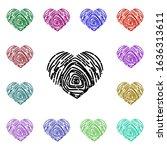 heart fingerprint multi color...