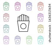 food  fries multi color style...